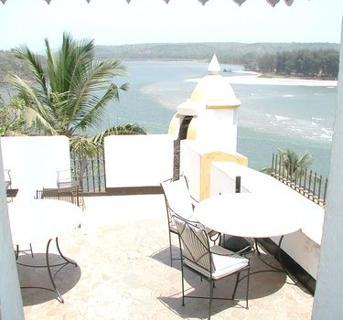 Amazing view from the Tiracol Fort restaurant